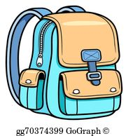 Bag clipart picture library School Bag Clip Art - Royalty Free - GoGraph picture library