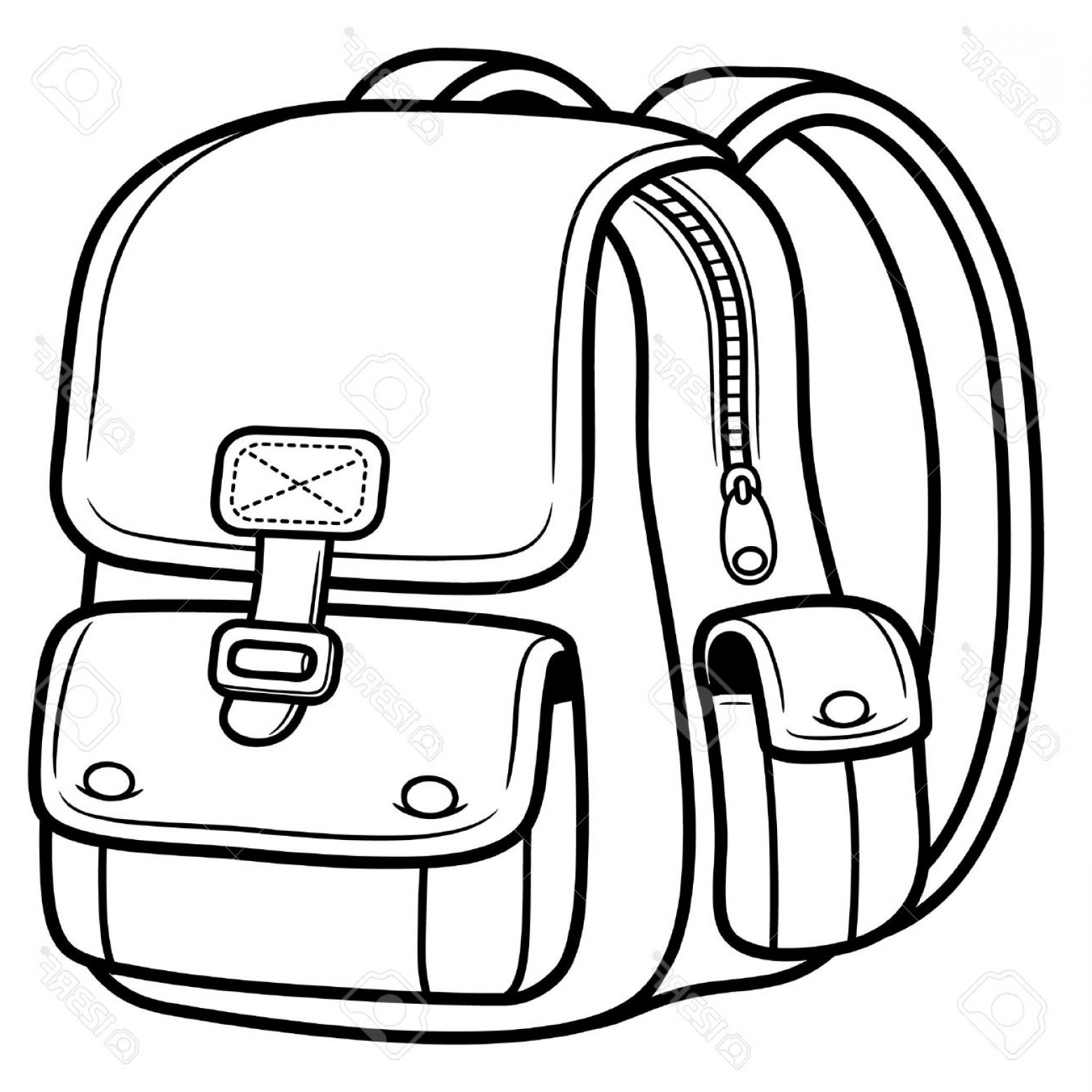 Bag images clipart svg royalty free library Black And White School Bag Clipart svg royalty free library