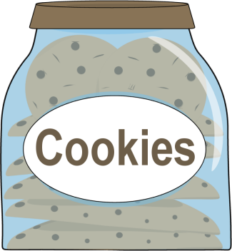 Bag of cookies clipart vector transparent library Jar of Cookies | Candy Cupcake Icecream Cake Cookies Donuts Cookies ... vector transparent library
