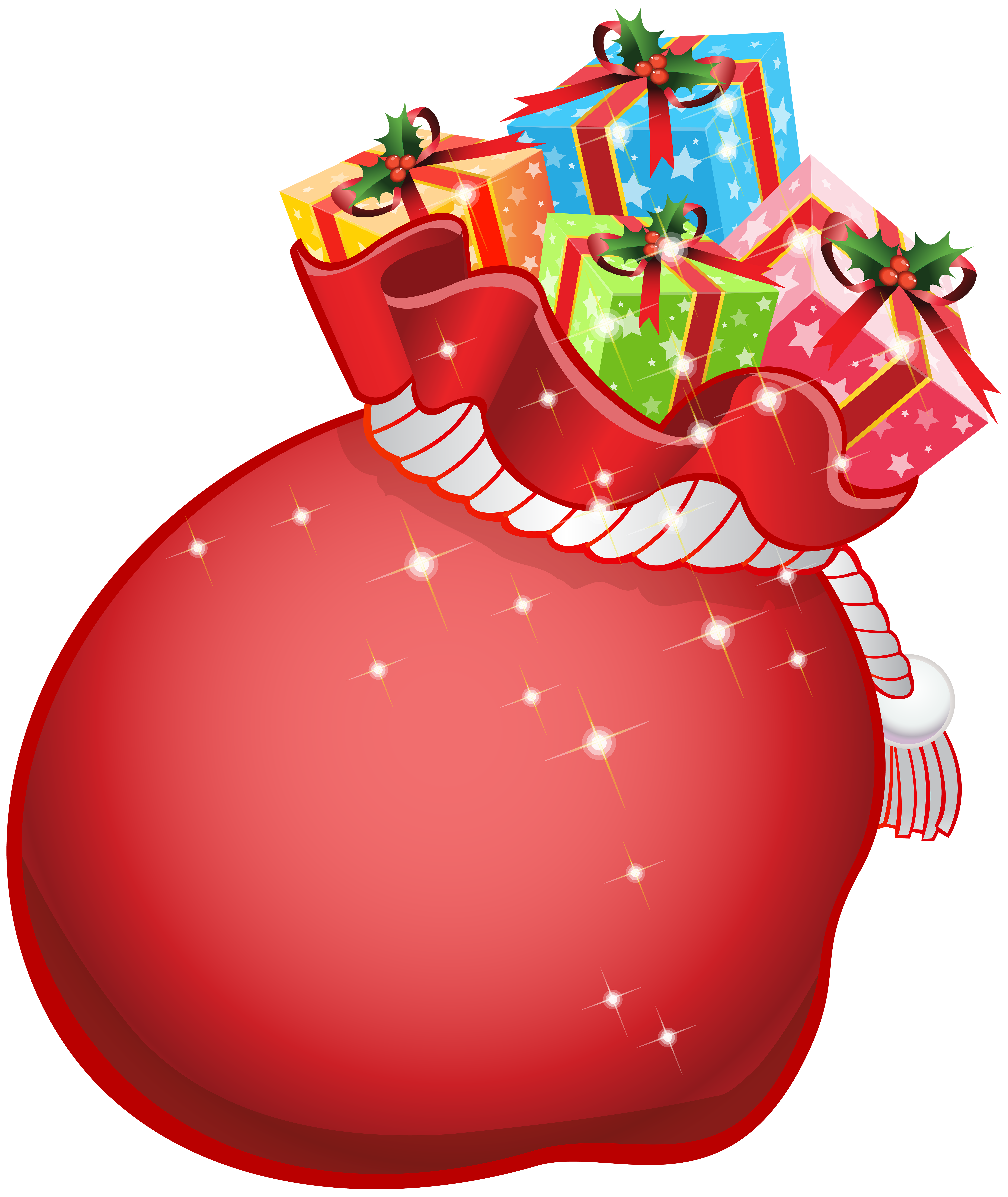 Bag of gifts clipart svg freeuse stock Santa Bag with Gifts Transparent PNG Clip Art | Gallery ... svg freeuse stock