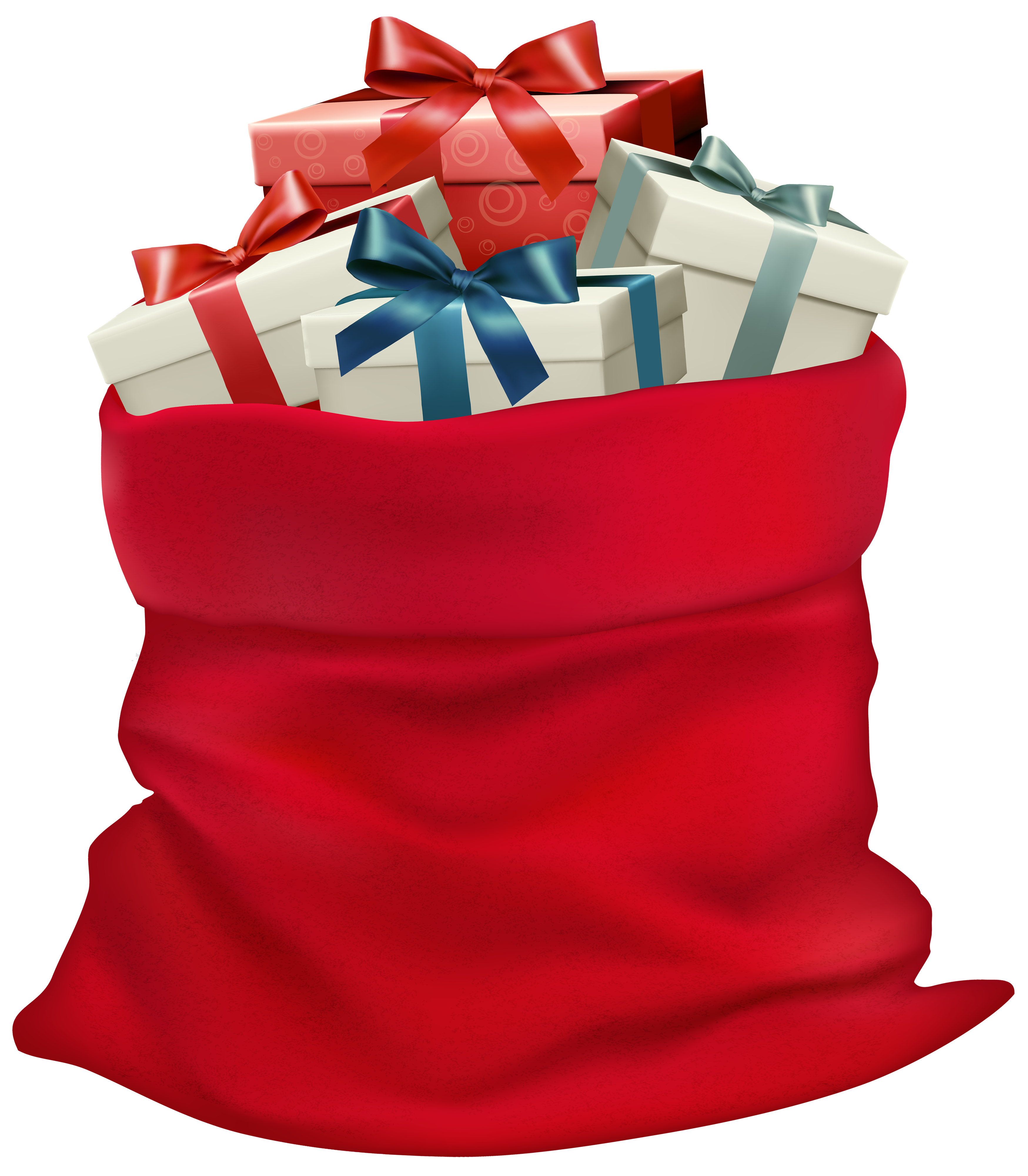 Bag of gifts clipart vector library Christmas Sack with Gifts PNG Clip Art Image | Gallery Yopriceville ... vector library