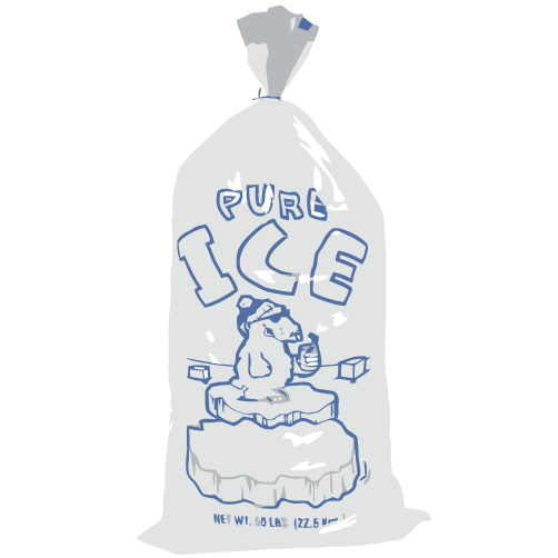 Bag of ice clipart jpg royalty free library Ice Bag 7lbs | SWILL jpg royalty free library