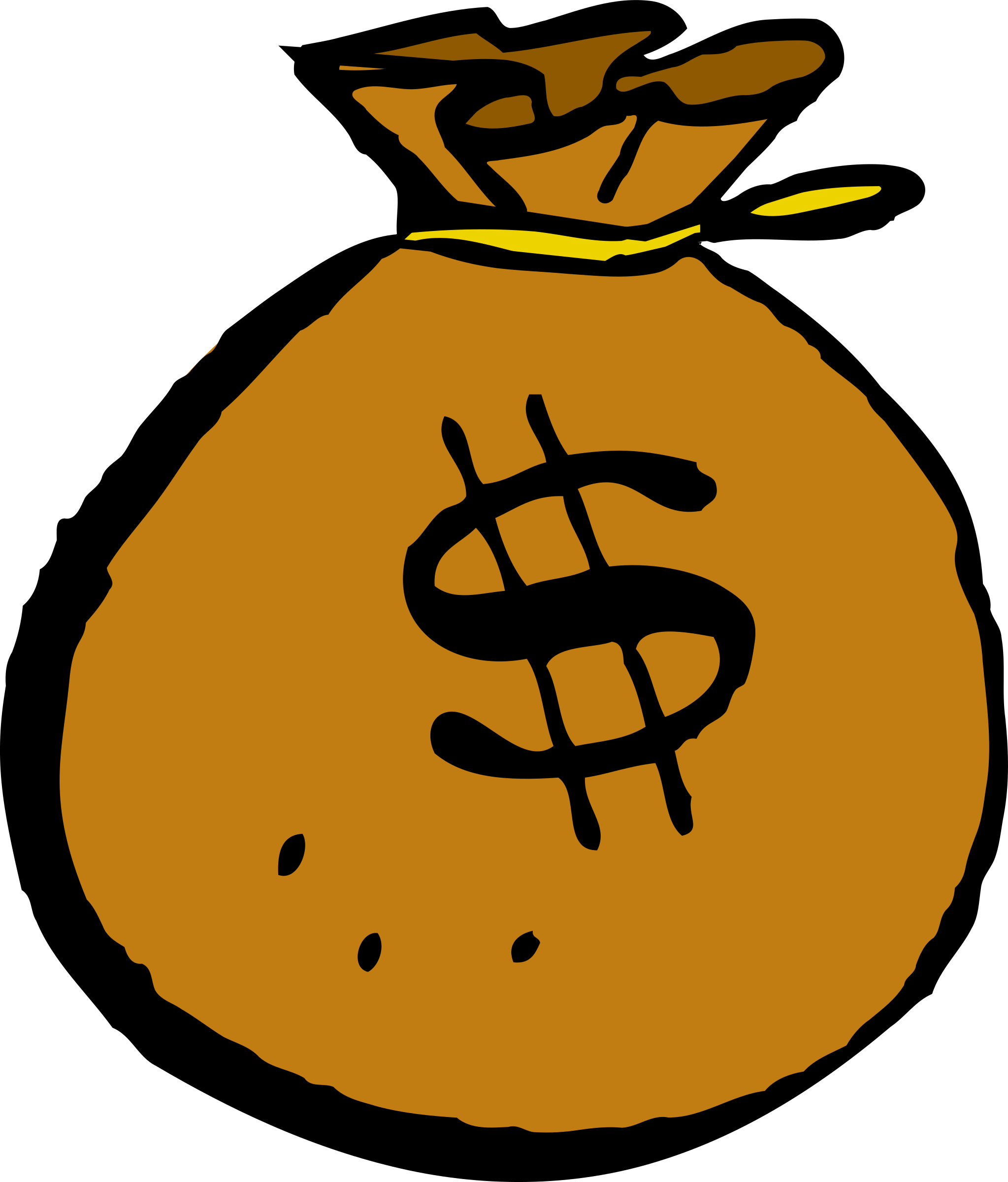 Cartoon money clipart