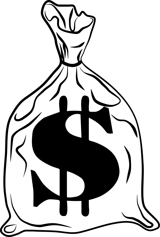 Bag of money clipart black banner library download Clipart - bag-o-money banner library download