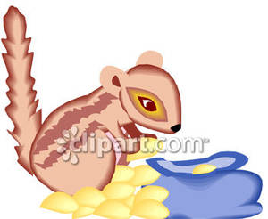 Bag of nuts clipart png royalty free Chipmunk With A Bag of Nuts - Royalty Free Clipart Picture png royalty free