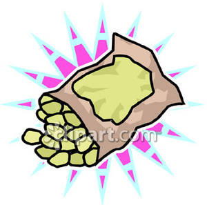 Bag of nuts clipart jpg Bag of Peanuts - Royalty Free Clipart Picture jpg
