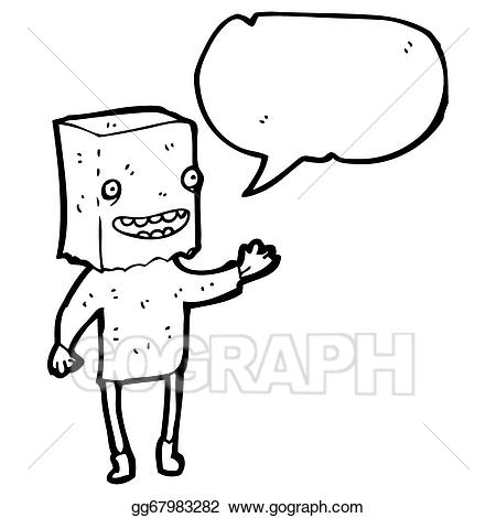 Bag over head clipart svg transparent stock Stock Illustration - Ugly man with bag on head. Clipart ... svg transparent stock