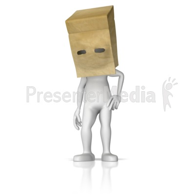 Bag over head clipart png freeuse Paper Bag Over Head - 3D Figures - Great Clipart for Presentations ... png freeuse