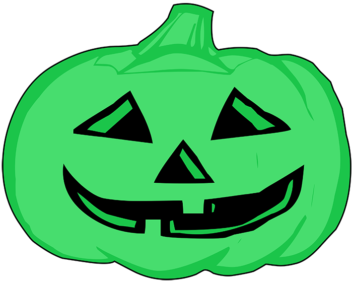 Halloween green clipart haunted house black and white download Happy Halloween Clipart black and white download