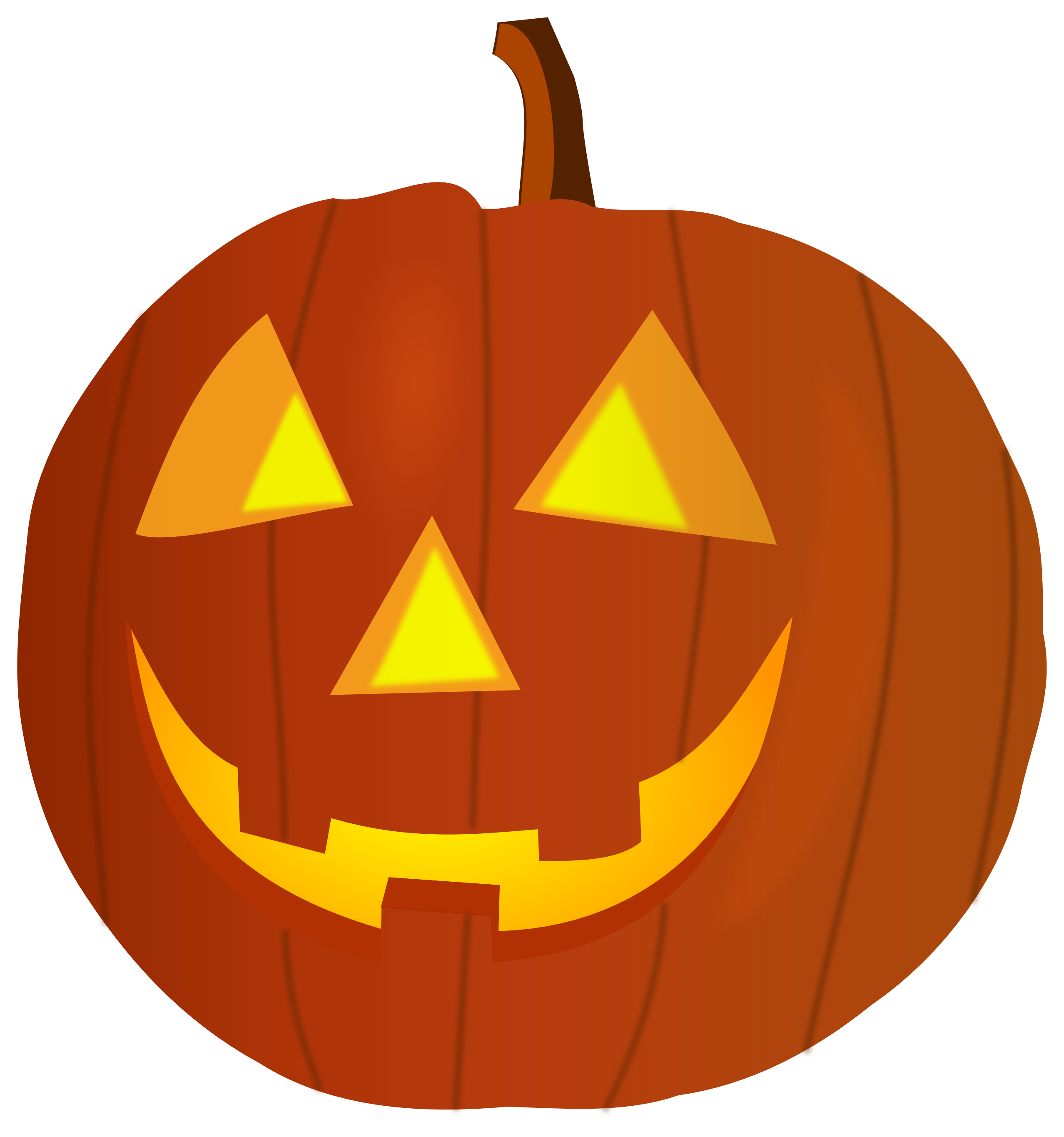 Cute pumpkin carving clipart. Halloween clip art panda