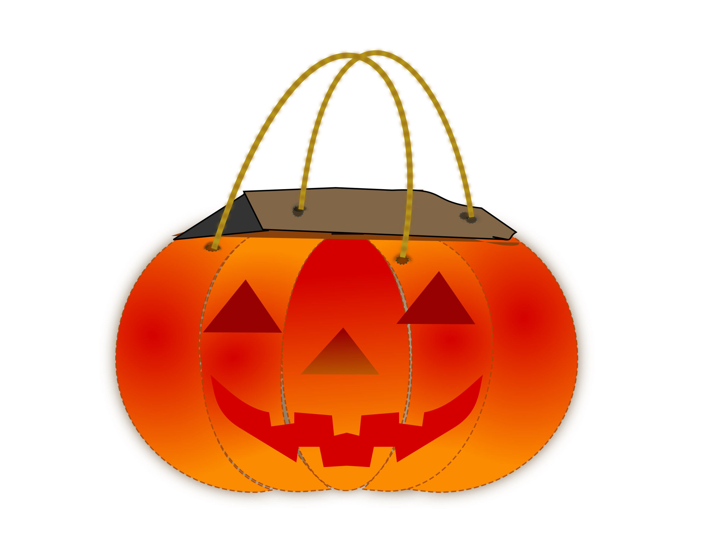 Pumpkin corn clipart image library Clipart - Trick Or Treat Bag 2 image library