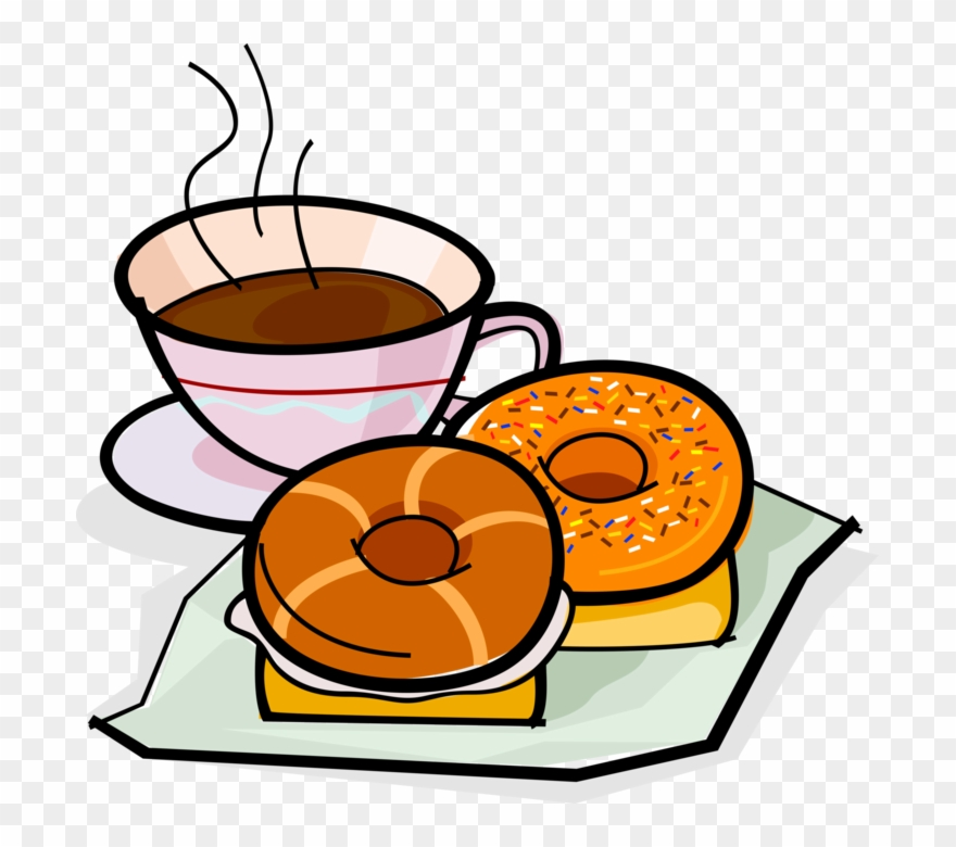Coffee and doughnuts clipart svg transparent Picture Transparent Library Bagel Drawing Coffee Donut - Donuts And ... svg transparent
