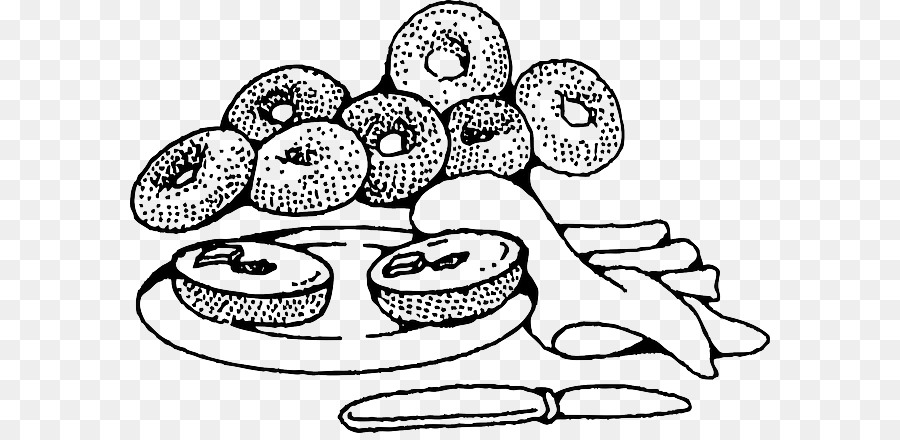 Bagel clipart black and white jpg Cheese Cartoon png download - 640*433 - Free Transparent Bagel png ... jpg