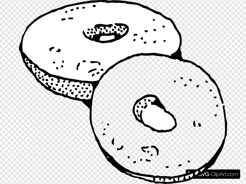 Bagel clipart black and white vector library download Bagel Clip art, Icon and SVG - SVG Clipart vector library download