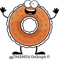 Bagel clipart image black and white stock Bagel Clip Art - Royalty Free - GoGraph image black and white stock