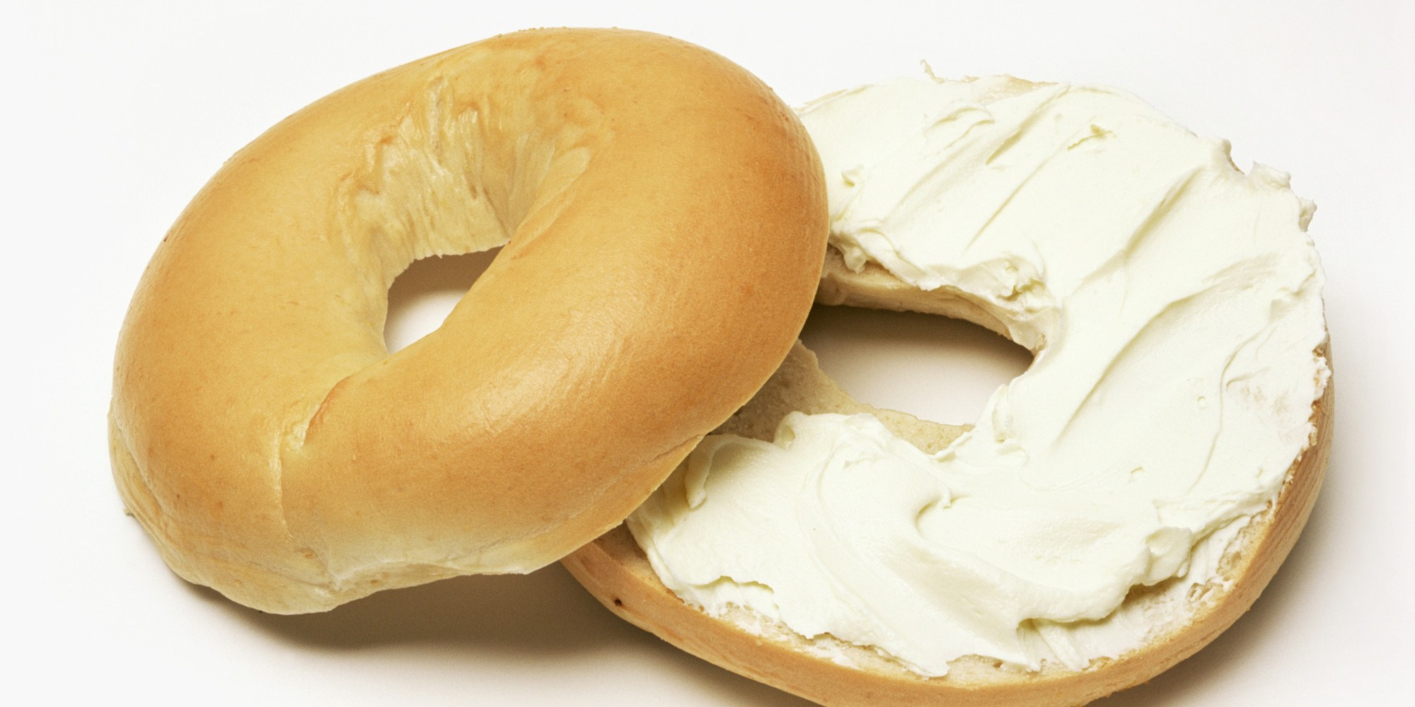 Bagel with cream cheese clipart