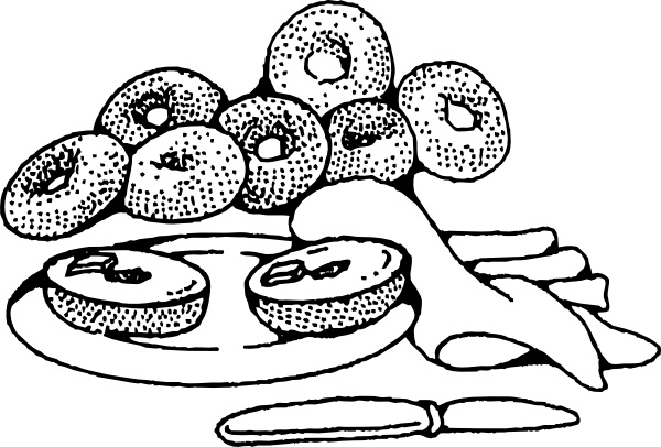 Bagels and breakfast free clipart png free stock Bakery Breakfast Bagels clip art Free vector in Open office drawing ... png free stock
