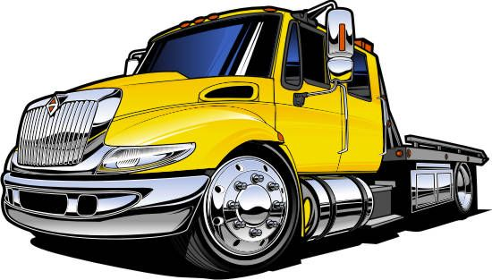 Tow truck cartoon clipart