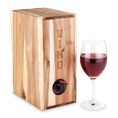Bagged wine clipart picture royalty free download Country Home Acacia Wood Boxed Wine Cover by Twine picture royalty free download