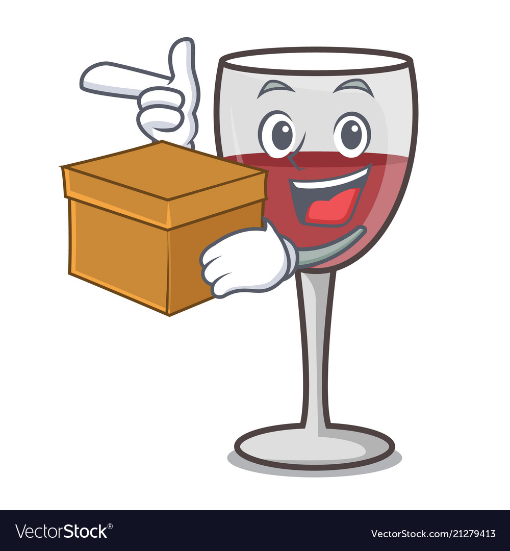 Bagged wine clipart vector free library With box wine character cartoon style vector free library