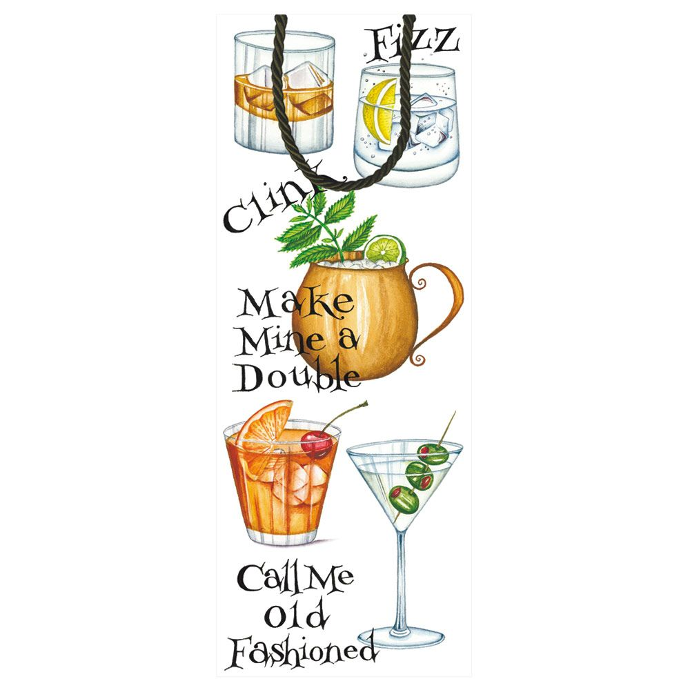Bagged wine clipart clip art transparent Cocktail Hour Wine & Bottle Gift Bag - 1 Each clip art transparent