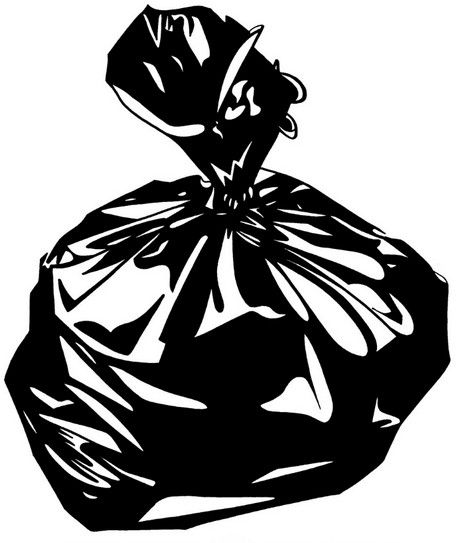 Black bags of garbage clipart picture black and white Free Trash Bag Cliparts, Download Free Clip Art, Free Clip Art on ... picture black and white