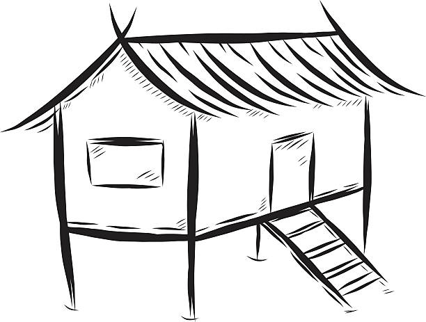 Bahay kubo clipart black and white clip art free download Collection of Hut clipart | Free download best Hut clipart on ... clip art free download