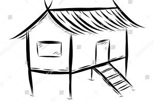 Bahay kubo clipart black and white picture library library Nipa Hut Drawing | Free download best Nipa Hut Drawing on ClipArtMag.com picture library library
