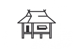 Bahay kubo clipart black and white black and white library Bahay kubo clipart black and white 1 » Clipart Station black and white library
