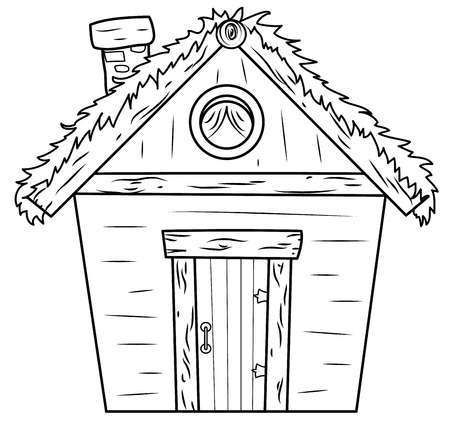 Bahay kubo clipart black and white