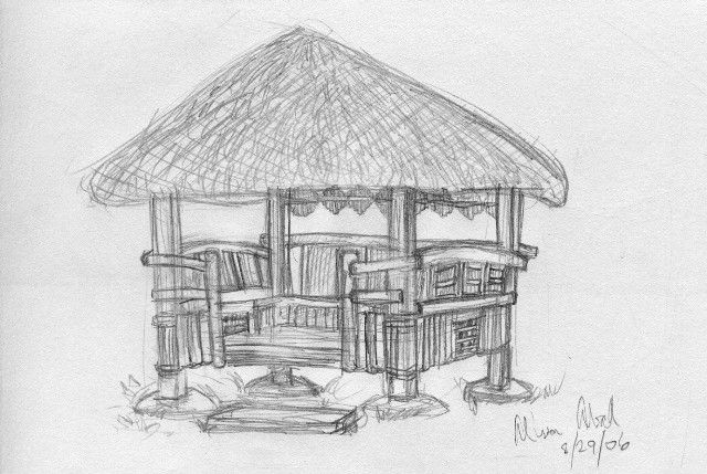 Bahay kubo clipart black and white graphic freeuse library Image result for bahay kubo sketch easy | ap project | Bahay kubo ... graphic freeuse library