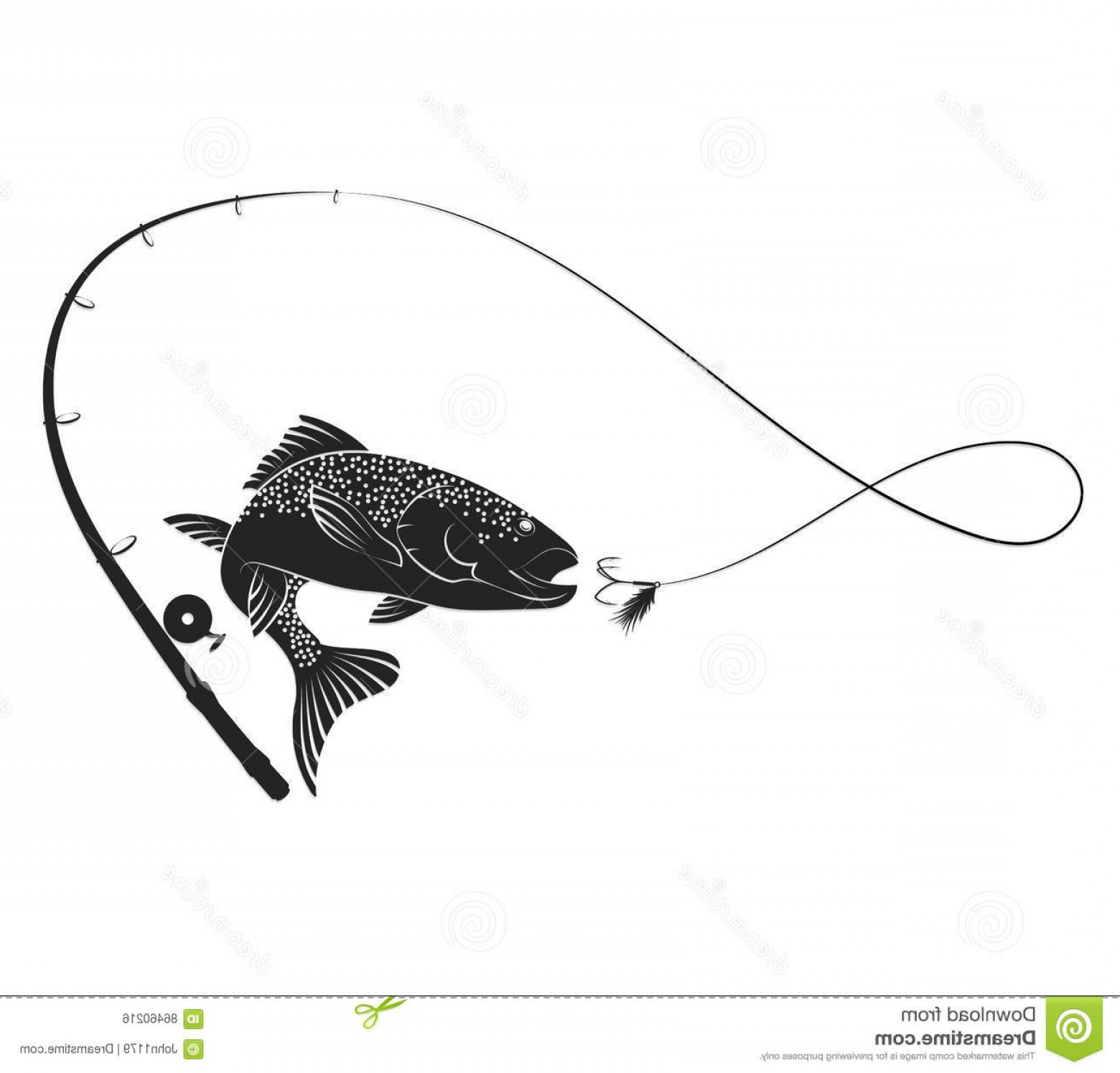 Stock illustration fish rod. Free clipart of fishing poles and lures