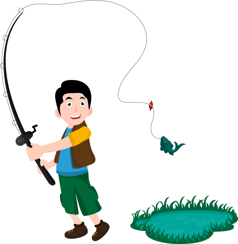 Catch a fish clipart clip free Fishing Pole PNG Transparent Free Images | PNG Only clip free