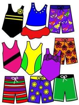 Swimming costume clipart image royalty free library Bathing suit clip art * color and black and white | SCHOOL CLIPART ... image royalty free library