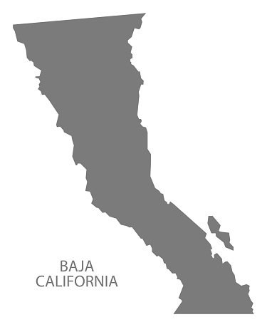 Baja california norte map clipart