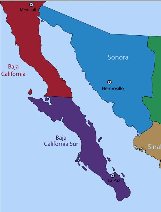 Baja california norte map clipart clip royalty free stock Baja California, Mexico, baja, Baja Norte   Go Gringo clip royalty free stock