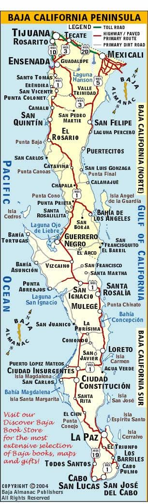 Baja california norte map clipart image royalty free library 17 Best images about Maps of Exotic Lands I visited on Pinterest ... image royalty free library