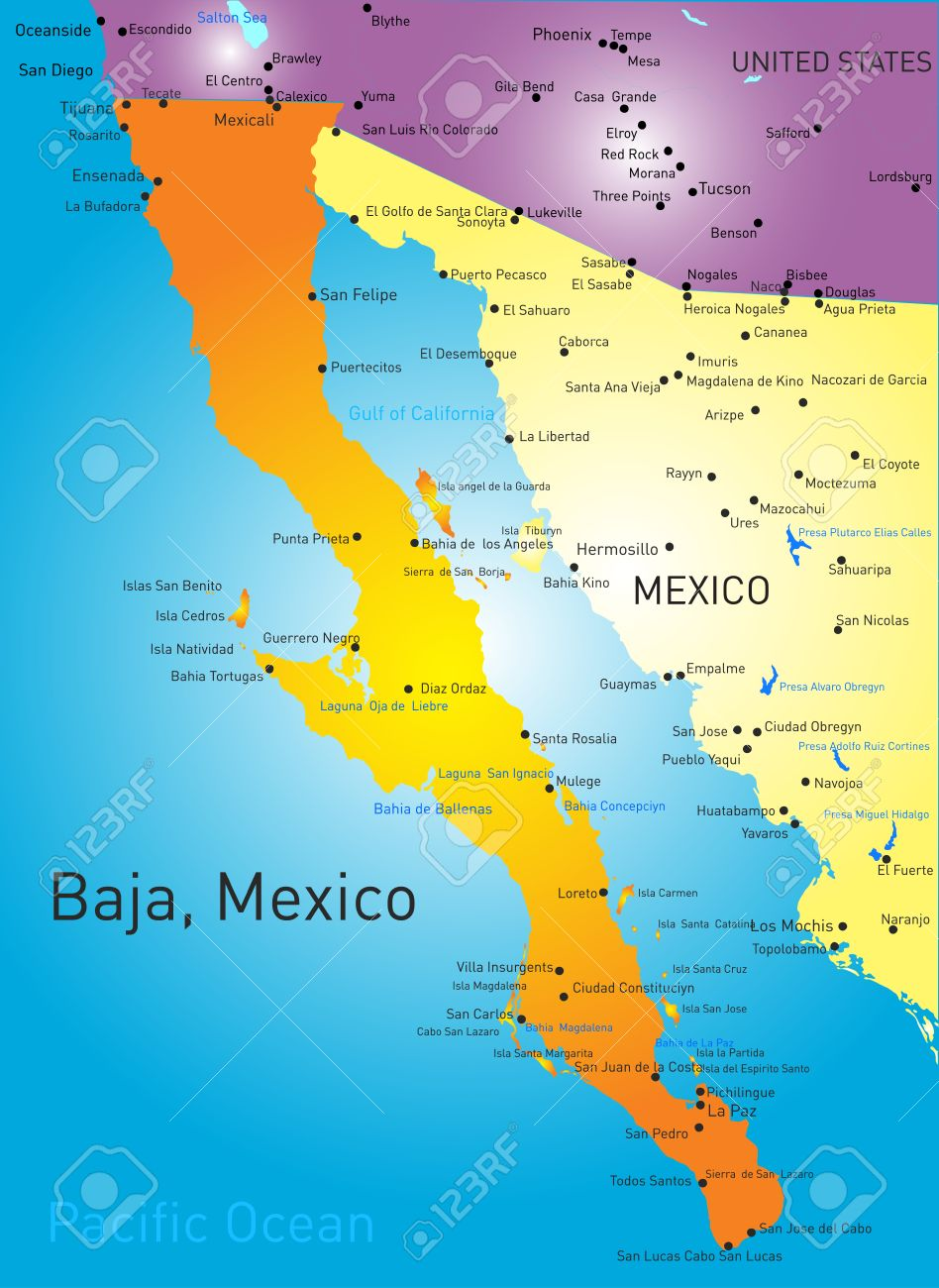 Baja california norte map clipart banner black and white library Maps Update #543723: Baja Map Mexico – Baja Map Baja Mexico Maps ... banner black and white library