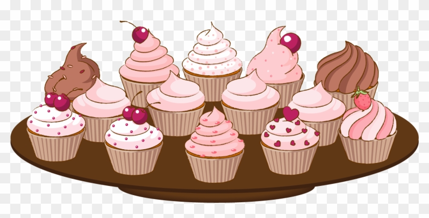 Bake Sale Clip Art Of A Cupcake With Sprinkles Cake - Cupcake Vector ... vector download