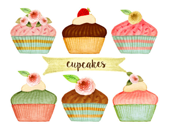 Cupcake clipart, bakery clipart, tea party clipart, cakes clipart ... clip art freeuse library