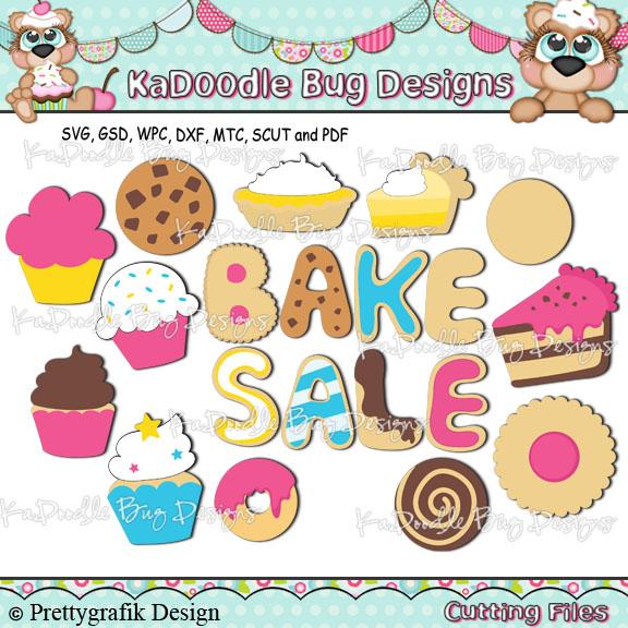 Bake Sale Goodies [] - $1.88 : Kadoodle Bug Designs, Cut Files, Digi ... clipart free stock