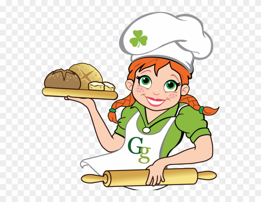 Gaelic Girl Goodies - Girl Baking Bread Clipart - Png Download ... graphic freeuse