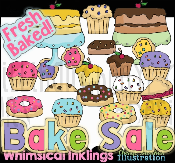 Bake sale items clipart clipart royalty free download Bake Sale Clipart Collection clipart royalty free download