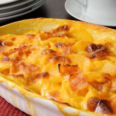 Baked ham scalloped potatoes clipart image transparent download Cheesy Scalloped Potatoes and Ham Casserole image transparent download