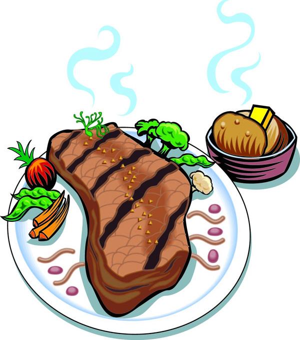Baked steak dinner clipart free svg freeuse stock Steak Dinner Clipart | Free download best Steak Dinner Clipart on ... svg freeuse stock