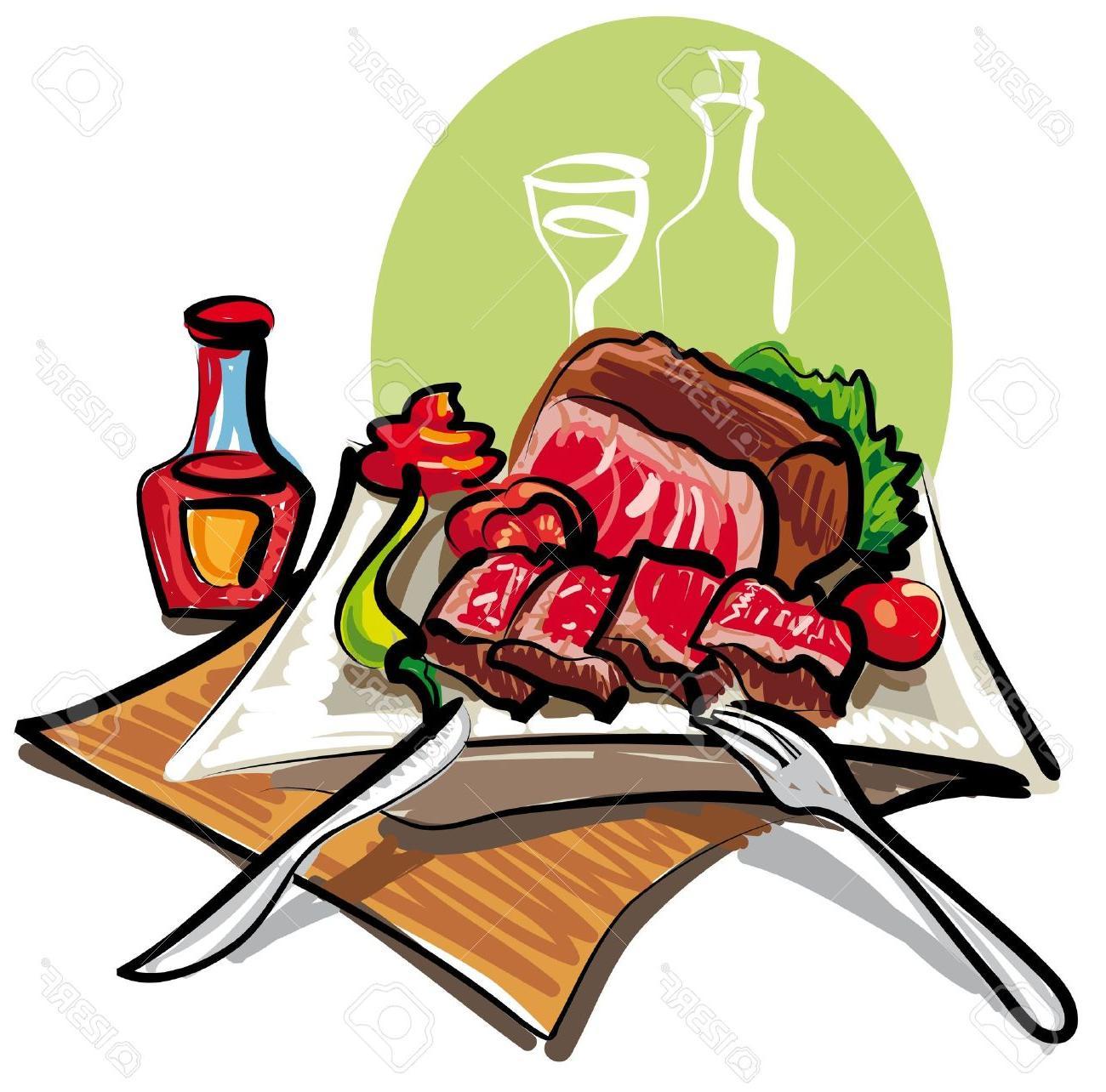 Clipart steak dinner royalty free Best Steak Dinner Vector File Free » Free Vector Art, Images ... royalty free