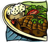 Baked steak dinner clipart free royalty free download Baked Steak Clipart - Free Clipart royalty free download