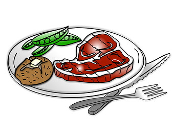 Home cooked meal clipart