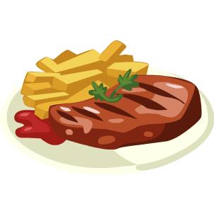 Baked steak dinner clipart free freeuse stock Free Beef Dinner Cliparts, Download Free Clip Art, Free Clip Art on ... freeuse stock