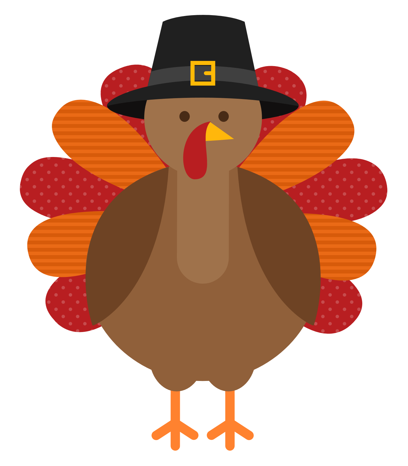 Clipart of a turkey vector Funny Turkey Clipart (61+) vector